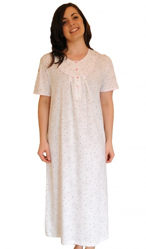Pure Cotton Short Sleeve Nightdress Suzanne Charles